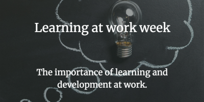 learning at work, learning, training, lightbulb, chalkboard, education