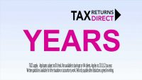 tax returns direct tv advert, tv advertising, screenshot