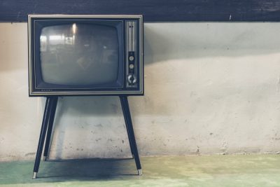 TV retro - broadcast advertising, old tv