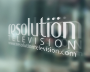 Resolution logo on glass contact us, what we do,