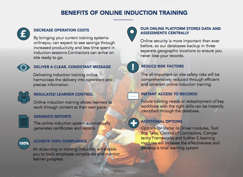benefits online induction