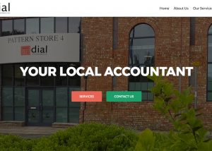di accountant website screenshot