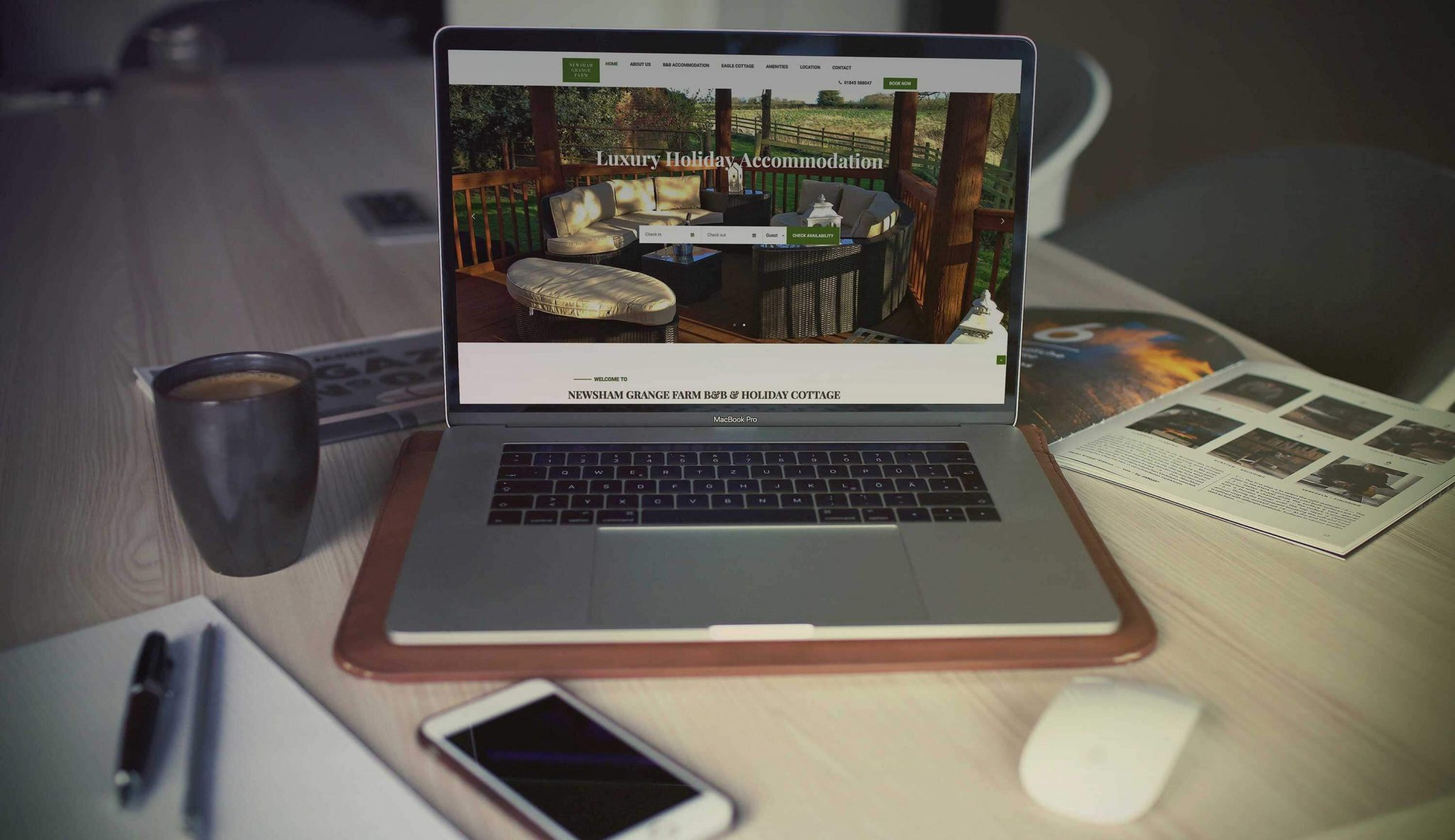 website optimisation, digital marketing, newsham grange farm, laptop , website design