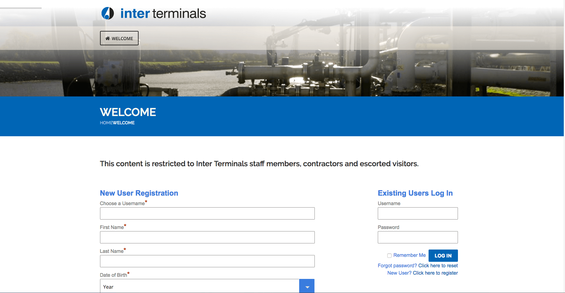 Inter terminals Online Induction , screen shot, induction, online induction