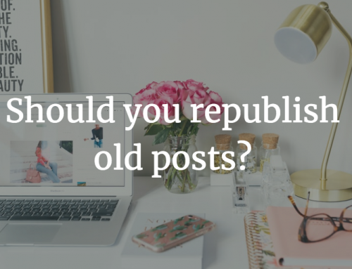 Republish? Or not to republish?